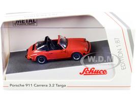Porsche 911 Carrera 3.2 Targa Copper 1/87 HO Diecast Model Car Schuco 452656400