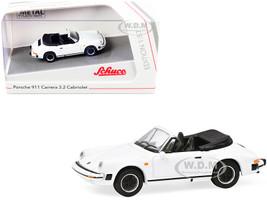 Porsche 911 Carrera 3.2 Cabriolet White 1/87 HO Diecast Model Car Schuco 452659800