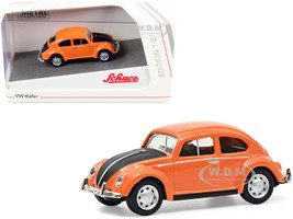 Volkswagen Kafer Orange Black 1/87 HO Diecast Model Car Schuco 452662800