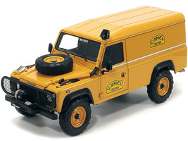 Land Rover 110 Panel Truck Sandglow Orange Accessories Camel Trophy Support Unit Borneo 1985 Limited Edition 1000 pieces Worldwide 1/18 Diecast Model Car Almost Real 810311