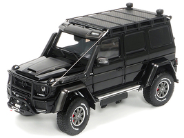 Mercedes Benz Brabus 550 Adventure G-Class 4x4 Obsidian Black Limited Edition 1000 pieces Worldwide 1/18 Diecast Model Car Almost Real 860303