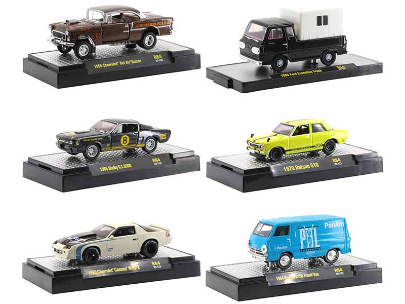 Auto Trucks 6 piece Set Release 64 DISPLAY CASES Limited Edition 7250 pieces Worldwide 1/64 Diecast Model Cars M2 Machines 32500-64