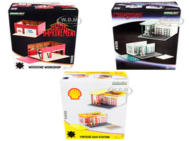Mechanic's Corner 3 piece Diorama Set Series 7 1/64 Scale Models Greenlight 57071 57072 57073