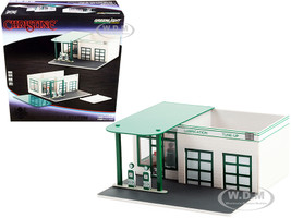Vintage Gas Station Mobico Diorama Christine 1983 Movie Mechanic's Corner Series 7 for 1/64 Scale Models Greenlight 57072