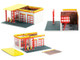 Vintage Gas Station Diorama Shell Oil #2 Service Station Mechanic's Corner Series 7 for 1/64 Scale Models Greenlight 57073