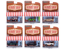 The Hobby Shop Set of 6 pieces Series 10 1/64 Diecast Model Cars Greenlight 97100