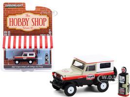1967 Nissan Patrol Vintage Gas Pump Texaco The Hobby Shop Series 10 1/64 Diecast Model Car Greenlight 97100 A