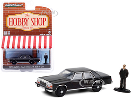 1987 Ford LTD Crown Victoria Black Man in Black Suit Figurine The Hobby Shop Series 10 1/64 Diecast Model Car Greenlight 97100 E