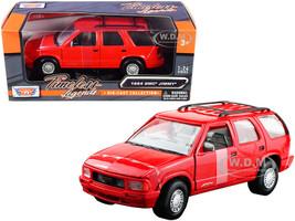 1994 GMC Jimmy Roof Rack Red 1/24 Diecast Model Car Motormax 73206