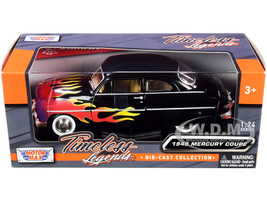 1949 Mercury Coupe Black Flames Timeless Legends Series 1/24 Diecast Model Car Motormax 73225