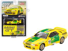 Nissan Skyline GT-R R32 Gr. A RHD Right Hand Drive #11 BP Japan Touring Car Championship JTCC 1993 Limited Edition 1200 pieces Worldwide 1/64 Diecast Model Car True Scale Miniatures MGT00178