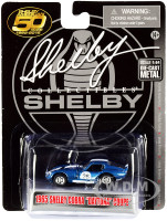 1965 Shelby Cobra Daytona Coupe #26 Blue Metallic White Stripes Shelby American 50 Years 1962 2012 1/64 Diecast Model Car Shelby Collectibles SC708