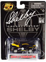 2008 Ford Shelby Mustang #08 Terlingua Black Yellow Shelby American 50 Years 1962 2012 1/64 Diecast Model Car Shelby Collectibles SC753