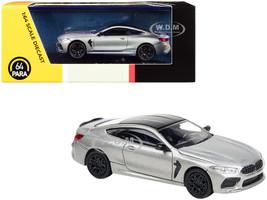 BMW M8 Coupe Donington Gray Metallic Black Top 1/64 Diecast Model Car Paragon PA-55213