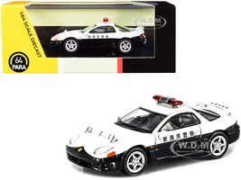Mitsubishi GTO RHD Right Hand Drive Japanese Police White Black 1/64 Diecast Model Car Paragon PA-65136