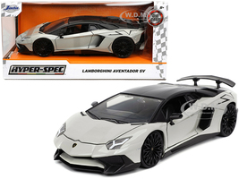 Lamborghini Aventador SV Gray Black Top Hyper-Spec Series 1/24 Diecast Model Car Jada 32713
