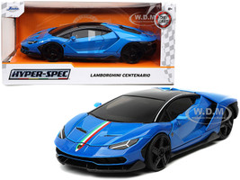 Lamborghini Centenario Blue Black Top Stripes Hyper-Spec Series 1/24 Diecast Model Car Jada 32714