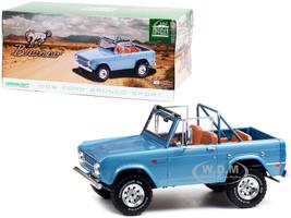 1969 Ford Bronco Sport Brittany Blue Sunraysia Wheels 1/18 Diecast Model Car Greenlight 19099