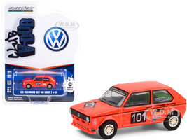 1975 Volkswagen Golf Mk1 Group 2 #101 Winner Hockenheimring German Grand Prix 1975 Club Vee V-Dub Series 12 1/64 Diecast Model Car Greenlight 36020 C