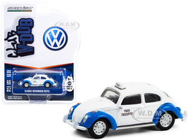 Classic Volkswagen Beetle White Blue Acapulco Taxi Mexico Club Vee V-Dub Series 12 1/64 Diecast Model Car Greenlight 36020 F