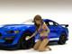 Bikini Car Wash Girls 4 piece Figurine Set 1/18 Scale Models American Diorama 76263 76264 76265 76266