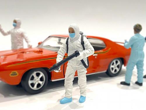 Hazmat Crew Figurine I 1/18 Scale Models American Diorama 76267