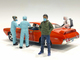 Hazmat Crew Figurine V 1/18 Scale Models American Diorama 76271