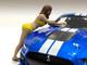 Bikini Car Wash Girls 4 piece Figurine Set 1/24 Scale Models American Diorama 76363 76364 76365 76366