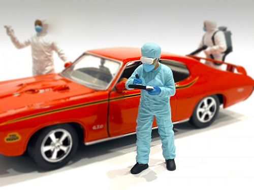 Hazmat Crew Figurine IV 1/24 Scale Models American Diorama 76370