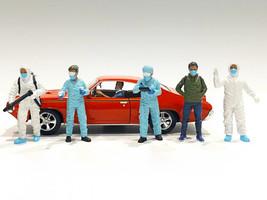 Hazmat Crew 6 piece Figurine Set 1/24 Scale Models American Diorama 76367 76368 76369 76370 76371 76372