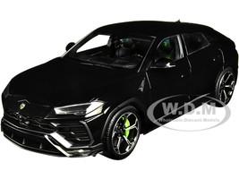 Lamborghini Urus Nero Noctis Solid Black 1/18 Model Car Autoart 79165