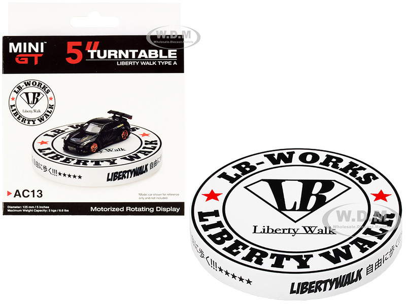 Rotary Display Turntable 5 Inches Liberty Walk Type A 1/64 Scale Models True Scale Miniatures MGTAC13