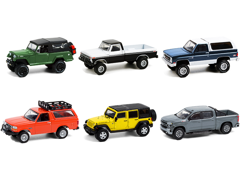 All Terrain Set of 6 pieces Series 11 1/64 Diecast Model Cars Greenlight 35190
