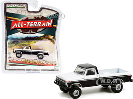 1976 Ford F-250 Custom Pickup Truck Off-Road Parts Black White All Terrain Series 11 1/64 Diecast Model Car Greenlight 35190 B