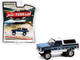 1987 GMC Jimmy Sierra Classic Lifted Dark Blue Metallic White All Terrain Series 11 1/64 Diecast Model Car Greenlight 35190 C
