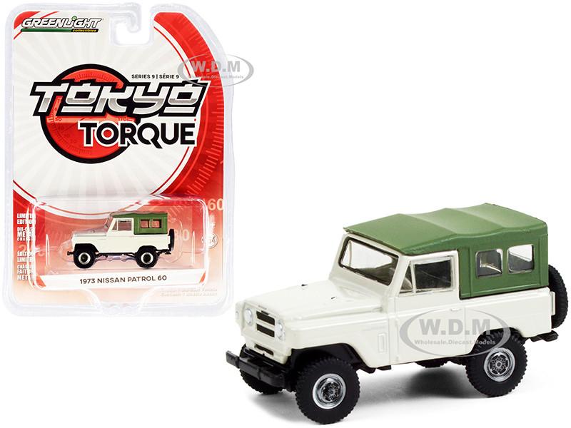 1973 Nissan Patrol 60 Tan Green Top Tokyo Torque Series 9 1/64 Diecast Model Car Greenlight 47070 D