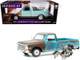 1971 Chevrolet C10 Pickup Truck Weathered Alien Figurine Independence Day 1996 Movie 1/18 Diecast Model Car Highway 61 18021