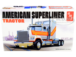 Skill 3 Model Kit American Superliner Semi Tractor 1/24 Scale Model AMT AMT1235