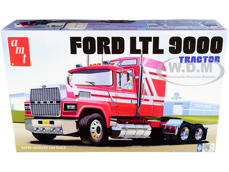 Skill 3 Model Kit Ford LTL 9000 Semi Tractor 1/24 Scale Model AMT AMT1238