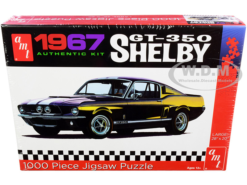 Jigsaw Puzzle 1967 Ford Mustang Shelby GT350 Model Box Puzzle 1000 piece AMT AWAC009-SHELBY