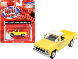 1973 Chevrolet Cheyenne Pickup Truck Adonis Yellow White Top 1/87 HO Scale Model Car Classic Metal Works 30606