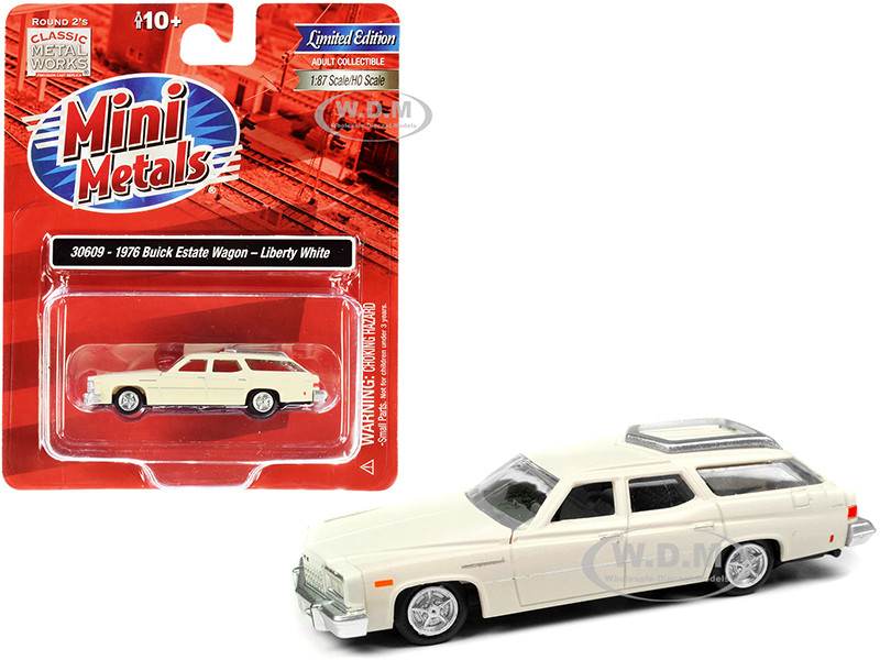 1976 Buick Estate Wagon Liberty White 1/87 HO Scale Model Car Classic Metal Works 30609