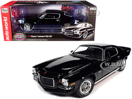 1971 Chevrolet Camaro RS/SS Tuxedo Black Muscle Car & Corvette Nationals MCACN American Muscle 30th Anniversary 1/18 Diecast Model Car Autoworld AMM1250