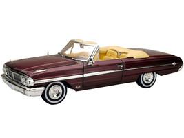 1964 Ford Galaxie 500 XL Convertible Vintage Burgundy 1/18 Diecast Model Car Sunstar 1432