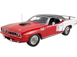 1971 Plymouth Hemi Barracuda Red White Black Top 1 of 1 Limited Edition 1230 pieces Worldwide 1/18 Diecast Model Car ACME A1806121