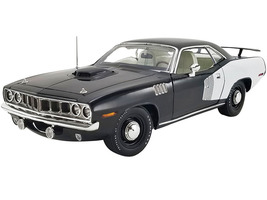 1971 Plymouth Hemi Barracuda Black White Stripes Limited Edition 732 pieces Worldwide 1/18 Diecast Model Car ACME A1806122