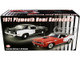 1971 Plymouth Hemi Barracuda Black White Stripes Limited Edition 732 pieces Worldwide 1/18 Diecast Model Car ACME A1806122