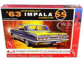Jigsaw Puzzle 1963 Chevrolet Impala SS Hardtop MODEL BOX PUZZLE 1000 piece AMT AWAC009-IMPALA