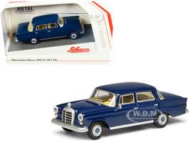 Mercedes Benz 200 D W110 Heckflosse Fintail Dark Blue 1/64 Diecast Model Car Schuco 452022200