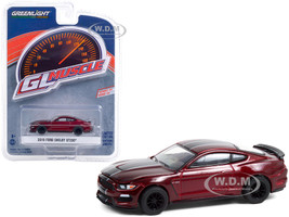 2019 Ford Mustang Shelby GT350 Ruby Red Black Stripes Greenlight Muscle Series 24 1/64 Diecast Model Car Greenlight 13290 E